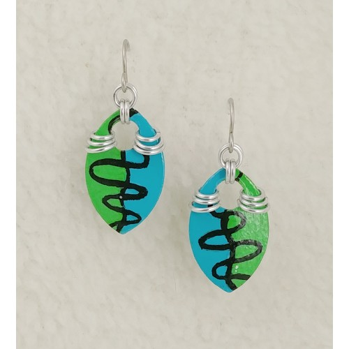 Artist Collection - Blue and Green Squiggle