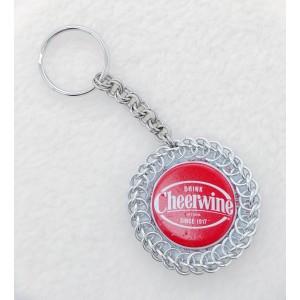 Cheerwine Bottlecap Keychain